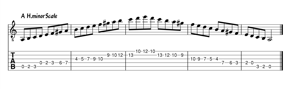 A H.minor Scale 3 Octavo