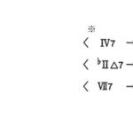 Cadence における Non- Diatonic Chords