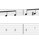 Harmonic minor perfect 5th below scale