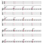 スタンダードな曲のコード進行でのアドリブ(第2ポジション)