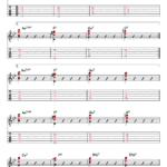 スタンダードな曲のコード進行でのアドリブ(第3ポジション)